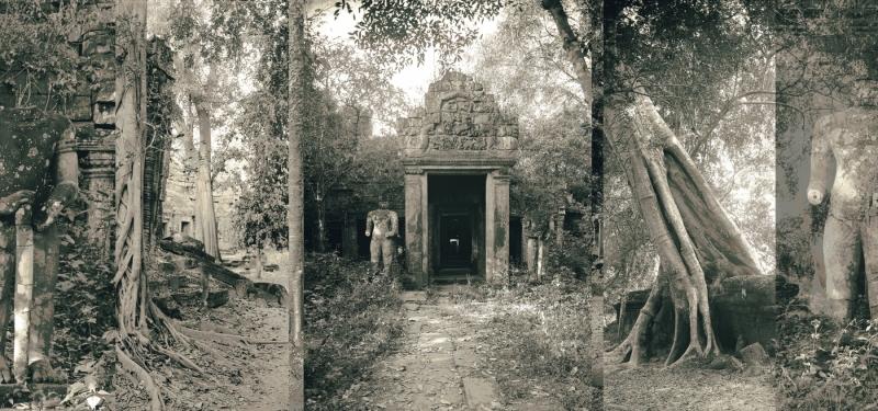 "Preah Kanhn, Cambodia 2000-2003, 19x42"""