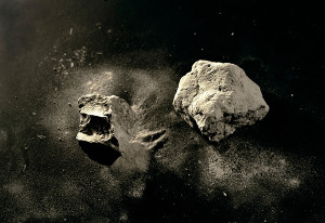 Meridel Rubenstein, Mt. Toba Volcanic Ash, 74,000 yrs. old, found in Malaysia, 2010. Archival pigment on aluminum, edition 1/7, 20 1/2 × 29 in.