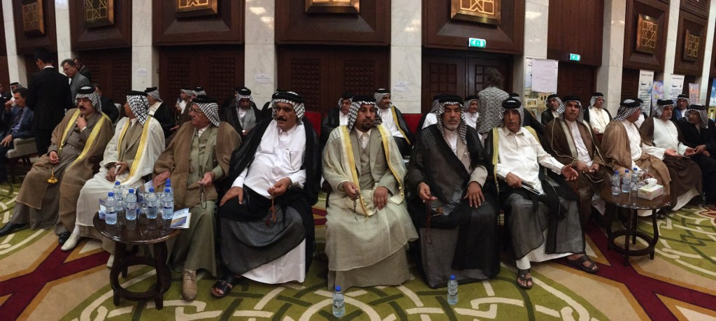 30 Angry Tribal Sheiks at Emergency Conference for Restoration of the Marshes, Al Rasheed Hotel, Baghdad, October 5, 2015Meridel Rubenstein